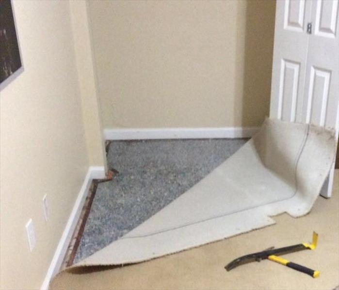 Bedroom Closet Damaged by Water Leak