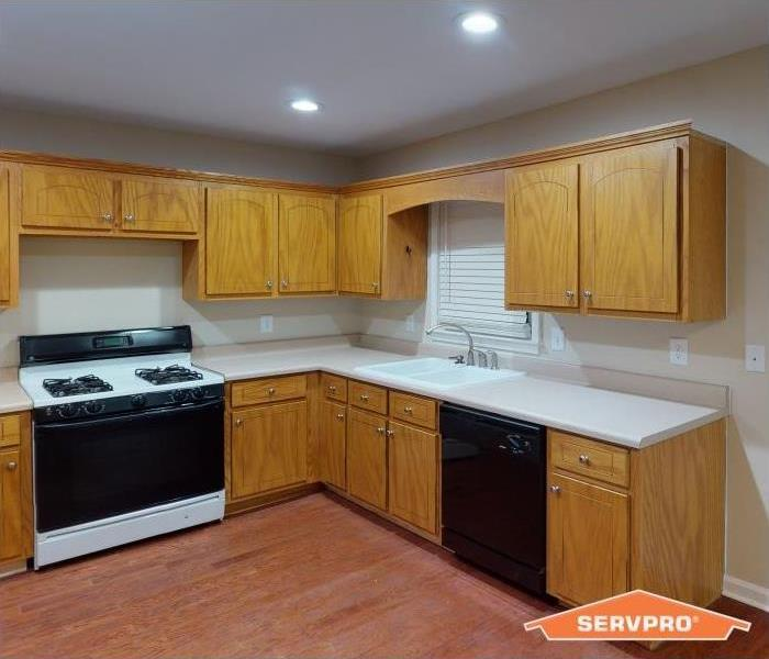 Fire Damaged Kitchen in Atlanta, GA -  Cleaned & Restored Kitchen Cabinets